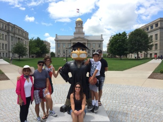Herky meets the Family!